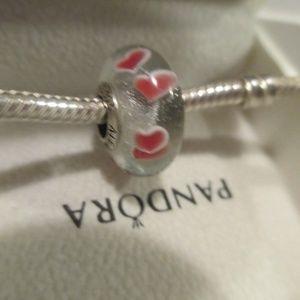 Authentic Pandora Murano Wild Hearts 791649